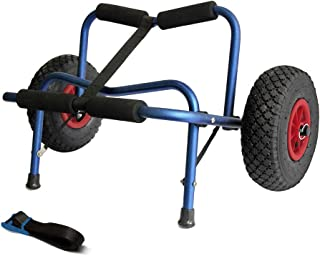 Mind and Action Universal Kayak Trolley Canoe Jon Boat Carrier Dolly Trailer Tote Trolley Transport Cart with Pneumatic Tires 200 LBS Capacity