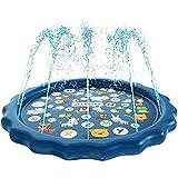 Questo paraspruzzi per i tuoi bambini per bagnarsi e schizzare sotto il sole caldo. Con un interessante motivo marino, divertenti spruzzi d'acqua, renderà i bambini ossessionati. Ottieni sollievo dal caldo con il tappetino per irrigazione per bambini...