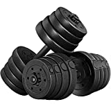 YAHEETECH Adjustable 66.14LB Dumbbell Weight Set...