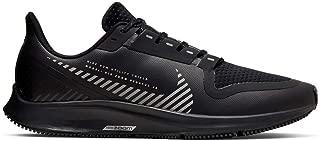 Air Zoom Pegasus 36 Shield Men's Running Shoe Black/Black-Metallic Silver Size 12