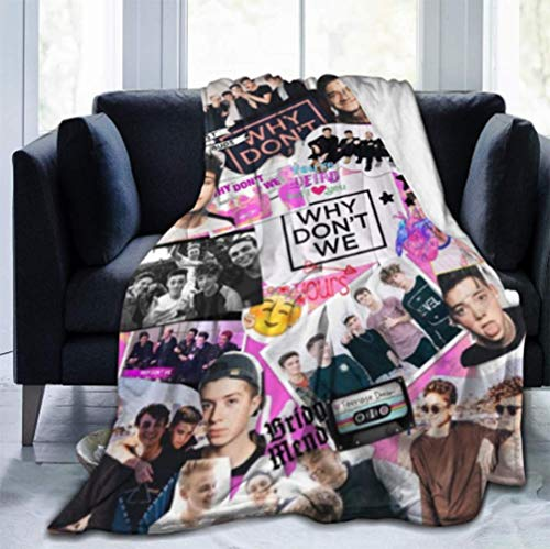GHJOWpill Why-Band-Don-t-We Ultra-Soft Micro Fleece Blanket Throw Super Soft Fuzzy Lightweight Hypoallergenic Plush Bed Couch Living Room