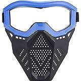 Surper Face Mask Tactical Mask Compatible with Nerf Rival, Apollo, Zeus, Khaos, Atlas, Artemis Blasters Rival Mask (Blue)