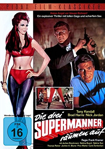 Die drei Supermänner räumen auf / Kultfilm mit den Kommissar X-Stars Brad Harris und Tony Kendall (Pidax Film-Klassiker)
