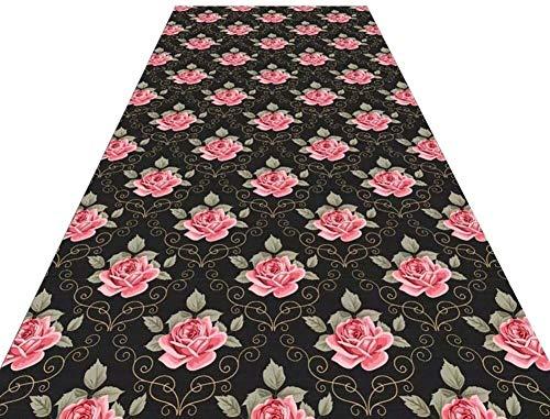 NNPE Pasillo de la Alfombra del Corredor con la Flor del Adorno de la máquina Lavable Resistente Zona Sucia alfombras for Largo Pasillo de los pasillos 0223 (Size : 0.8×15M)