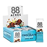 88 Acres Dark Chocolate Sea Salt Seed Granola Bar, Gluten-free, Nut-free, Non-GMO, Vegan, School Safe (1.6 Oz, 12 pack)
