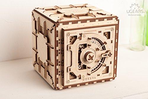 Casse-tête 3D en Bois pour Adultes Modèles de Coffre-fort Ugears - 5
