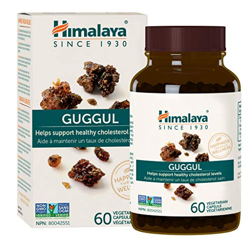 Himalaya Guggul, for Healthy Cholesterol and Triglyceride Levels, 60 Capsules, 750 mg