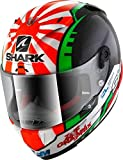 SHARK NC Casco per Moto, Hombre, Negro/Rojo, S