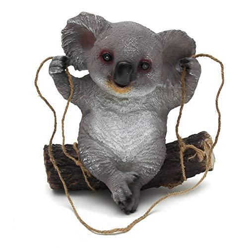 PassBeauty Garden Décorations de jardin Koala Balançoire animaux Statues de jardin
