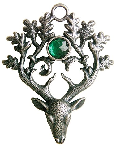 Enchanted Jewelry Greenwood's The Stag Lord for Protection and Defense Pendant Talisman Amulet