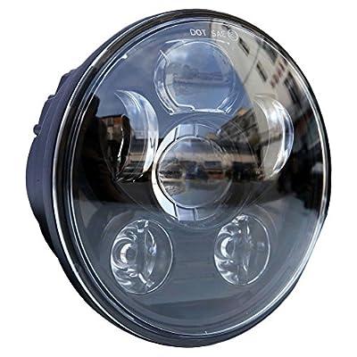LED Headlight Chrome For Jeep Wrangler HUMMER Harley Motorcycele