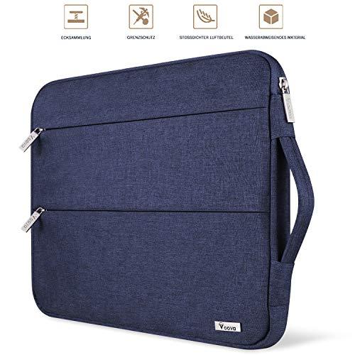 Voova Laptop Hülle Tasche Tablet 11 11.6 12 Zoll mit Griff,wasserdichte Laptoptasche 12 Zoll Sleeve für Surface 7 6/Chromebook/MacBook/IPad pro 12.9 mit 2 Taschen,Notebook Laptophülle Case-Blau