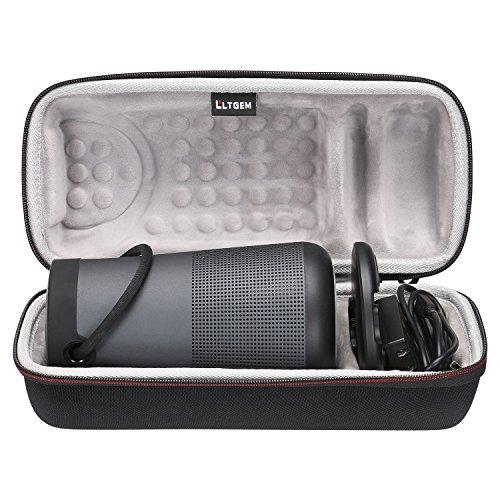 LTGEM Travel Protective Case for Bose SoundLink Revolve+ or Revolve+ (Series II) Portable & Long-Lasting Bluetooth 360 Speaker (Fits Charging Cradle, AC Adaptor and USB Cable)