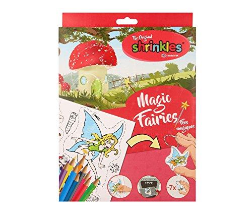 Shrinkles- WZ010, Confezione di Fatine magiche in plastica termoretraibile, per AttivitÀ manuali, Colore Unknown