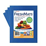 Bluapple FreshMats Refrigerator Fruit and Vegetable Shelf Liner to Keep Produce Fresh Longer with 11 Colors to Choose from (Blue)