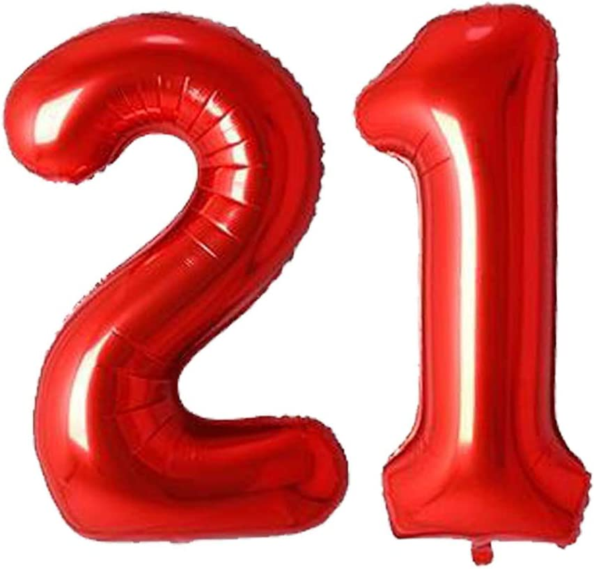 40inch Aimto Red 30 Balloon Birthday Decorations-Large Mylar Foil Balloon for 30th Birthday Party Decorations 30th Anniversary