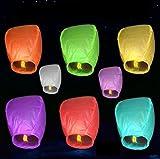 10pcs Multi-Color linternas del cielo vuelo chino Wish enciende para el banquete de boda de los Deseos charistmas