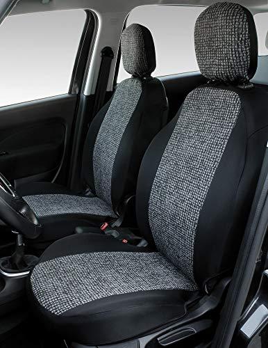 CORA 000129381 Coprisedili Anteriori Personalizzati Fiat 500X-500L, Mosaico Grigio