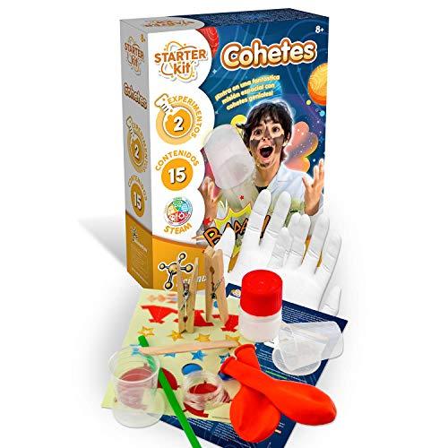 Science4you-Starter Kit Cohetes, Juguete Educativo y Cientifico, Los Primeros Pasos Ciencia, 2 Experimentos Sencillos para Niños +8 Años (80002582)