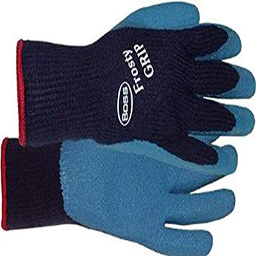 Boss Manufacturing Company 8439L Frosty Large Grip Glove, Blue