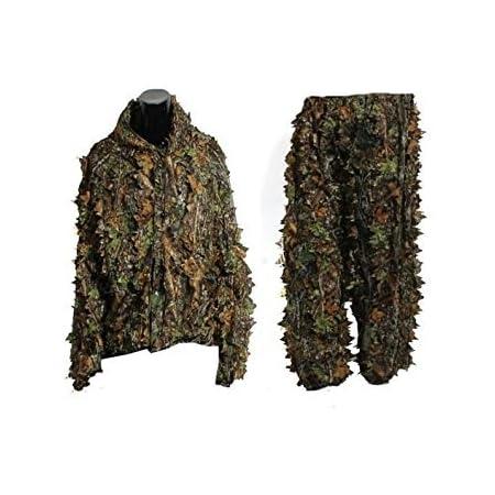 la neige la chasse sauvage avec fermeture /éclair Gocher Ghillie Combinaison camouflage 3D pour la chasse secr/ète