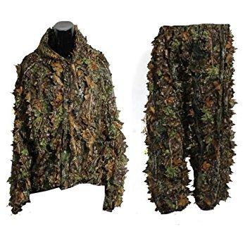 Tarnkleidung - SODIAL (R) 3D Ahornblattform Dschungel Blatt Erwachsene Ghillie Anzug Waldland Camo/ Tarnkleidung