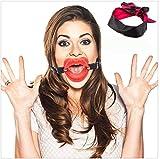 Sensensen juguete de cuero con boca abierta y cinta roja pequeña