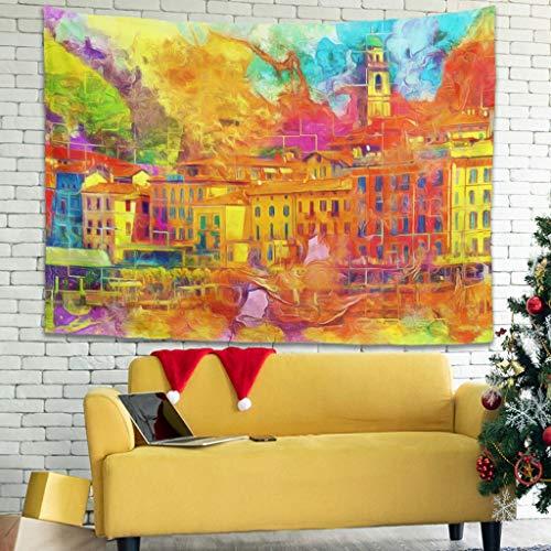 Tapiz de pared multicolor de estilo bohemio para dividir espacios, decoración del hogar, color blanco, 150 x 150 cm