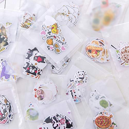 Japanse schattige zeeman maan Panda Plant Papier Dagboek Voedsel Stickers Flakes Scrapbooking briefpapier School benodigdheden