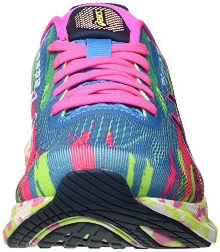 Asics Gel-Noosa Tri 13, Road Running Shoe Mujer, Digital Aqua/Hot Pink, 38 EU