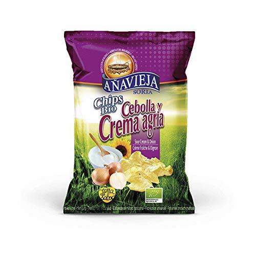 APERITIVOS DE AÑAVIEJA - Chips Crème Et Oignons 125G - Lot De 4