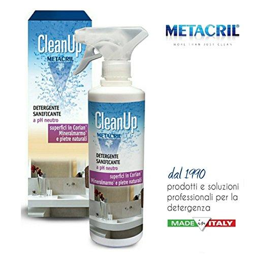 Metacril - Clean Up - Détergent neutre à action assainissante pour Corian et surfaces délicates, 500 ml