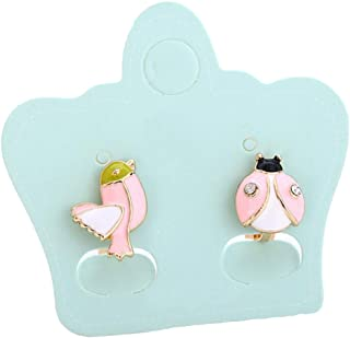 Girl's Sweet and Cute Animals Birds Ladybug Clip on Earrings No Pierced Earrings for Women Teen Girls