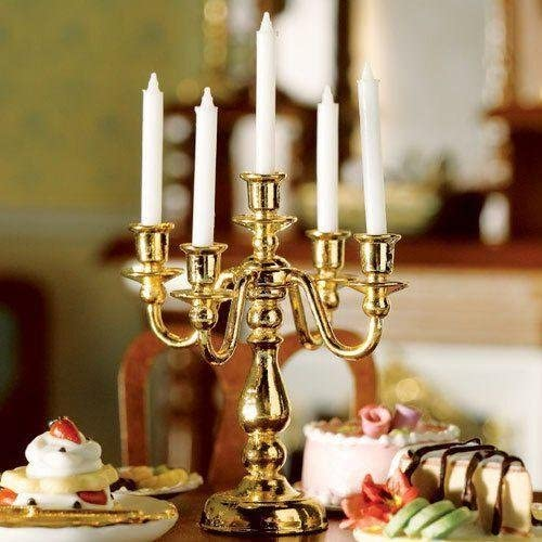 The Dolls House Emporium Five-arm Candelabra by The Dolls House Emporium