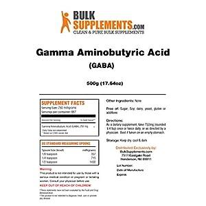 BulkSupplements (GABA) Gamma Aminobutyric Acid Powder (500 Grams)