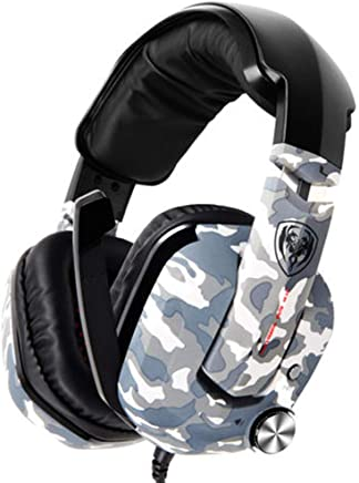 USB Gaming Headset - Dolby 7.1 Surround Sound Cuffie, Auricolare Stereo di Gioco per PS4, PC, Xbox Un Controller, Rumore annulla sopra Le Cuffie dell'orecchio con Il Mic,-Camouflage - Trova i prezzi più bassi