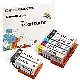 iCartouche Cartucho de tinta Compatible con Canon PGI-570 XL CLI-571 XL (3PGBK 1BK 1C 1M 1Y) PIXMA MG5750 MG5751 MG6850 MG6851 MG7750 MG7751 TS5050 TS5051 TS6040 TS6050 TS6051 TS8050 TS8051 TS9050 …