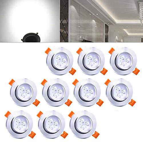 Hengda® LED Einbauleuchte Wohnzimmer Decken Leuchte Lampe Spot Strahler (10pcs Kaltweiß)