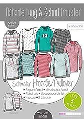 kibadoo Damen Mix&Match schmale Sweater Hoodie