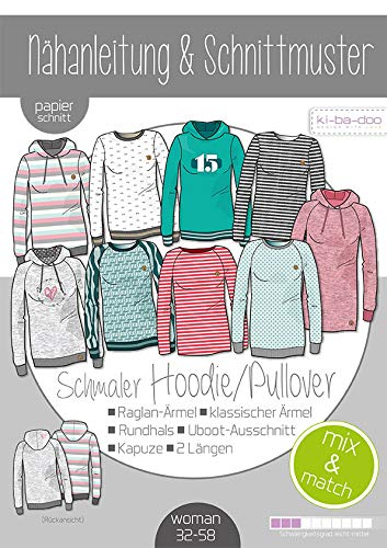 Stoffe Werning kibadoo Damen Mix&Match schmale Sweater Hoodie Bild