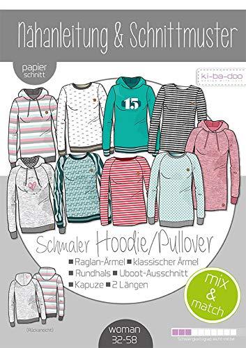 Schnittmuster kibadoo Damen Mix&Match schmale Sweater/Hoodie Papierschnittmuster
