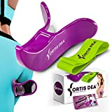 FORTIS DEA Hip Trainer for Buttocks Lifting and Resistance Band Set – Pelvic Floor Strengthening Device for Home Workouts – Kegel Machine Also Suitable for Easy Postpartum Exercises