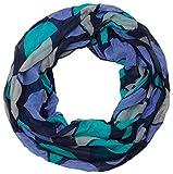 styleBREAKER leichter Retro Punkte Loop Schlauchschal, Damen 01014040, Farbe:Türkis-Blau