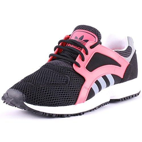 adidas Racer Lite W Black White Flamingo Red 40.5