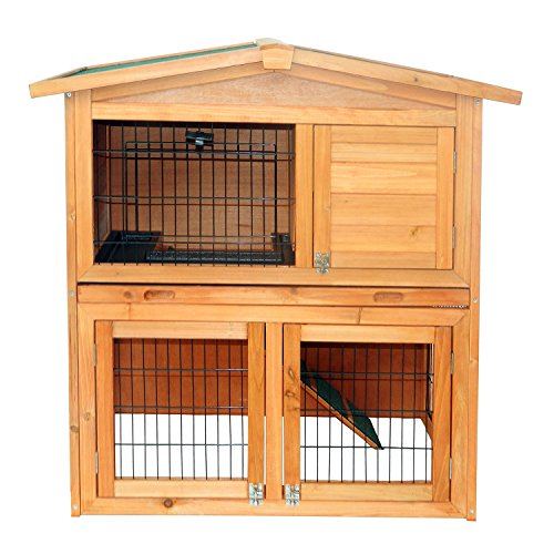 """Wooden Rabbit Hutch Small Animal House Pet Cage Chicken Coop A-Frame 40""""Pet Holds Cages Home - House Deals"""