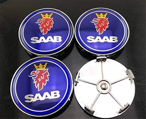 Etiqueta engomada del Emblema de la Insignia del Casquillo del Eje del Centro del Coche de la Rueda 4pcs para SAAB 9-3 93 9-5 9-4X 68mm
