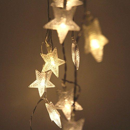 サクララ(Sakulala) イルミネーションライトLED 2.3M 20球 星型 クリスマスツリー、ワードローブ、結婚式、電飾、ガーデンパーティー、フェンス、パティオ 飾り 電池式