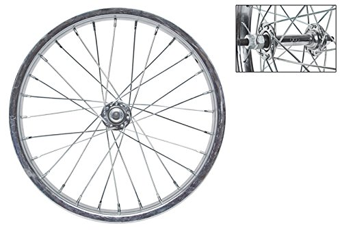 Wheel Master 16 x 1.75 Front Bicycle Wheel, 28H, Steel, Bolt On, Silver