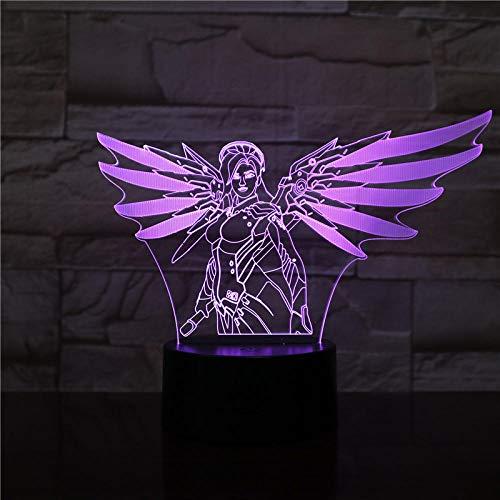 3D Illusion Lampe LED Nachtlicht Spiel Overwatch Tisch Schlafzimmer Action Figure Dekorative Lampe 7 Farbwechsel Home Decor Kinder Geburtstag Weihnachtsgeschenk