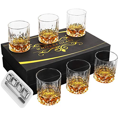 Crystal Whiskey Glasses Set